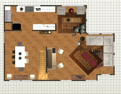 tv room layout