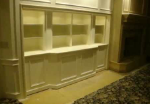 tv lift in bookcase