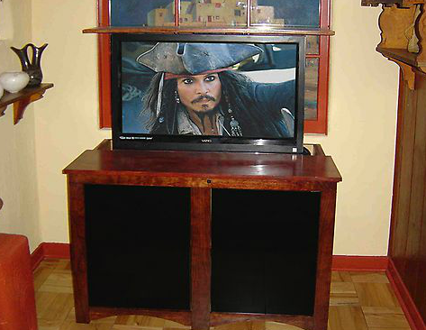 DIY TV Lift Cabinet & DIY TV Lift Cabinet Plan