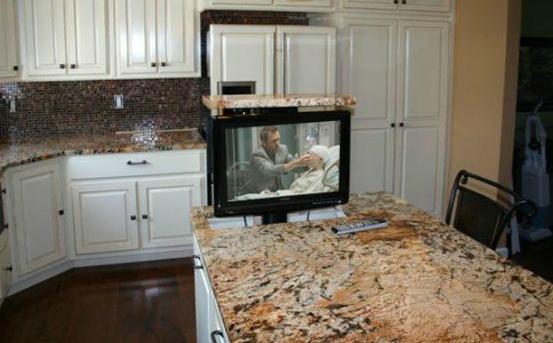 Kitchen Hidden TV Lift