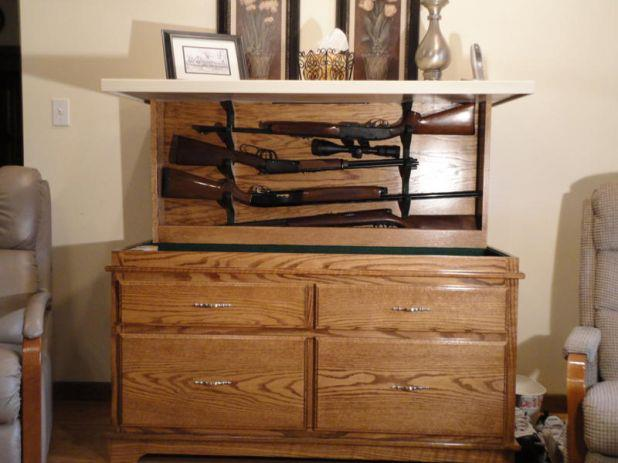 Hidden Gun Cabinet Safely Hide Your Guns In This Cabinet