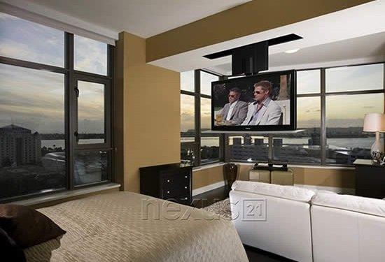Under floor tv lift automated home with under floor tv - Drop down tv mount ...