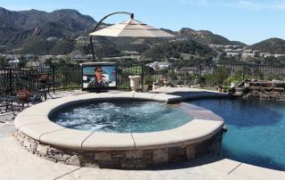 Outdoor Pool TV