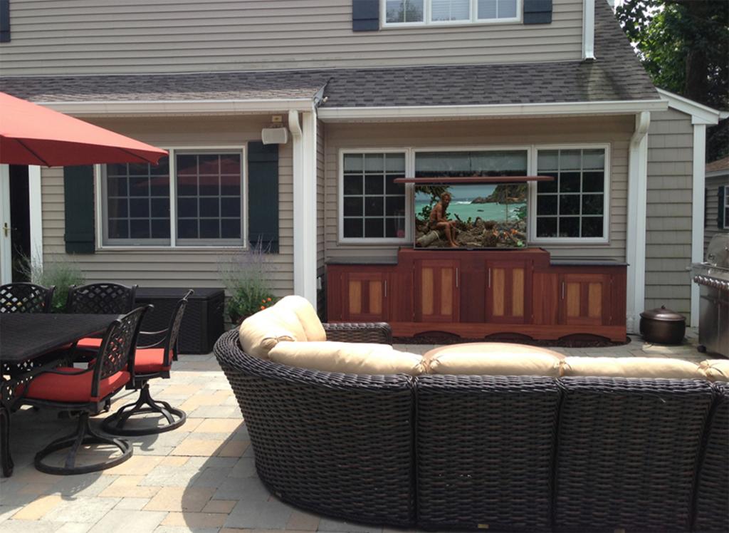 Outdoor Patio Hidden TV
