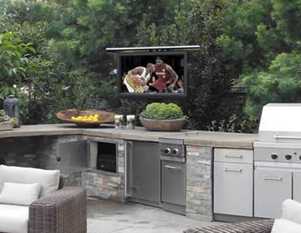 Patio TV Cabinets & Patio TV Lifts
