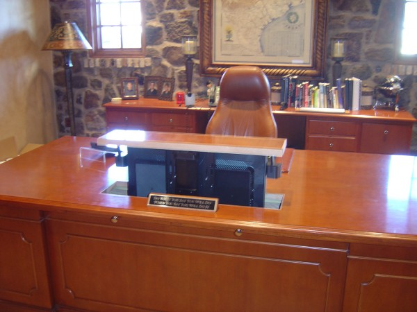 executive desk tv lift