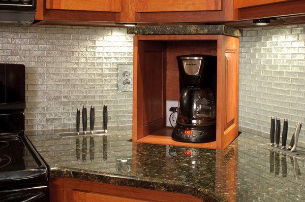 Small Kitchen TV Ideas & Appliance Lift Ideas