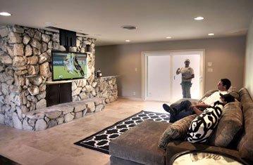 Basement Ceiling Drop Down TV Lift