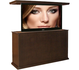 Hidden TV in Traditional Cabinet