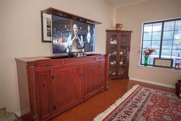 Custom-lift-cabinet-50-inch-TV