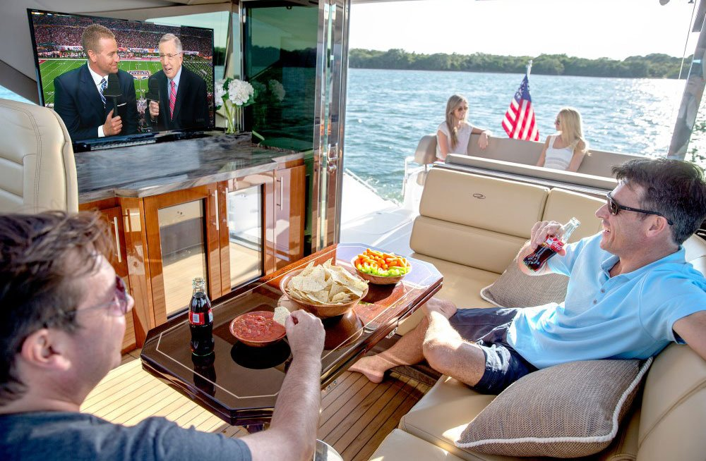 TV Lift on a Boat