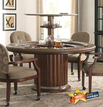 Poker Table with Hidden Bar