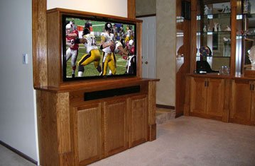 Attractive Cabinet with Large Hidden TV