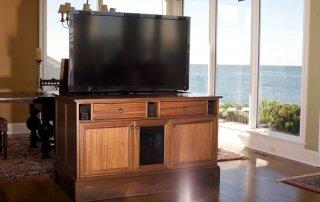 Hidden TV Cabinet as Room Divider
