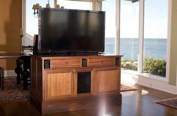 Custom Cabinet Hides TV