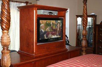 Custom TV Lift with Jewelry Cabinet