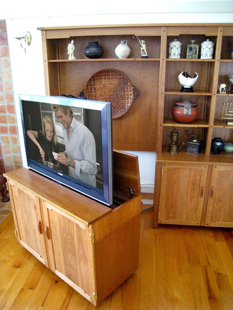 pull out tv stand custom made pull out tv cabinet nexus 21. Black Bedroom Furniture Sets. Home Design Ideas