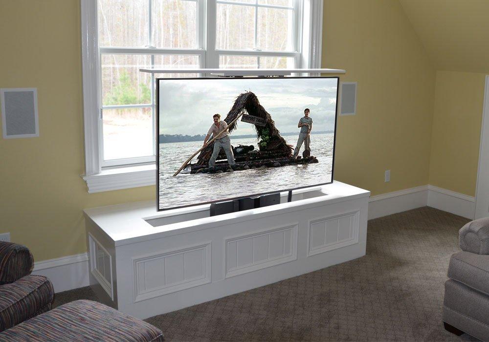 under floor swivel tv lift u2013 for up to 75u2033 tv