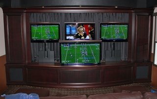 Man Cave TV Setup