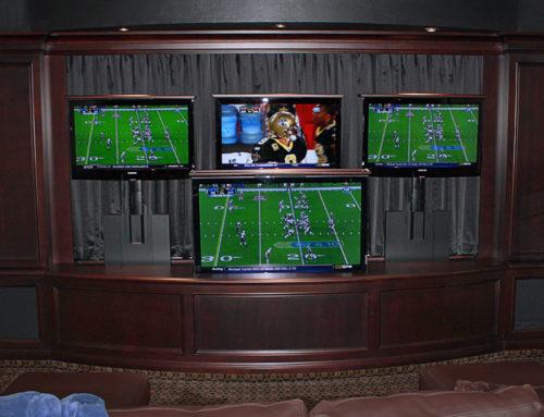 Man Cave TV Stand – 5 Screen Man Cave TV Lift