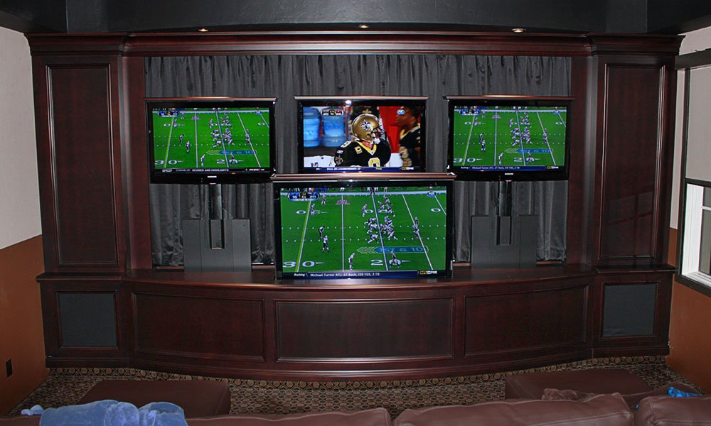 Man Cave TV Stand – 5 Screen Man Cave TV Lift