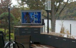 Amazing Outdoor Entertainment Area with Hidden TV