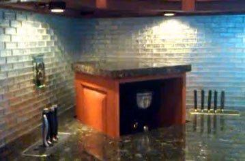 Appliance Lift in Kitchen Hides Coffee Maker