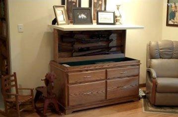 Concealed Gun Cabinet Inside Custom Furniture