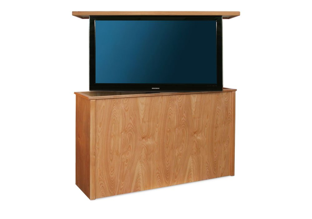 danish modern swivel tv lift cabinet. Black Bedroom Furniture Sets. Home Design Ideas