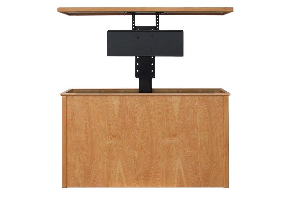 danish modern tv lift cabinet with 360 swivel size b u2013 up to 50u2033 tvu0027s