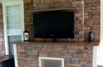 Hidden TV in Outdoor Kitchen