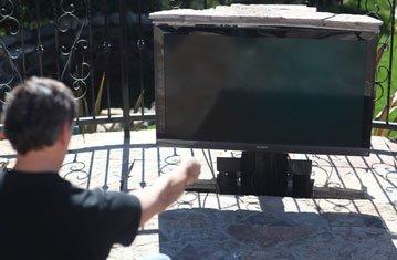 Hidden TVs in Luxury Backyard