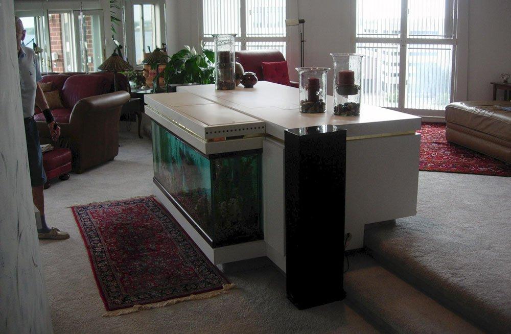 Lift System in Aquarium Cabinet