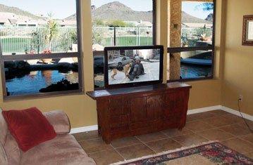 Pop Up TV Behind Existing Furniture