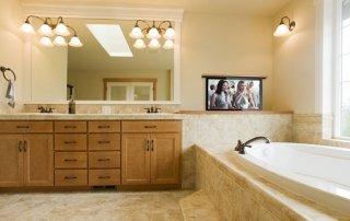 Pop Up TV in Bathroom