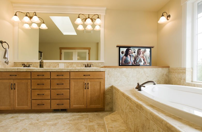 Bathroom Tv Ideas Television Lifts For The Bathroom