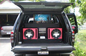 Pop Up TV Installed in a Yukon SUV