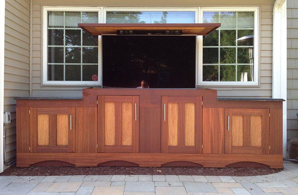 pop up tv cabinet cutom pine pop up tv cabinet furniture. Black Bedroom Furniture Sets. Home Design Ideas