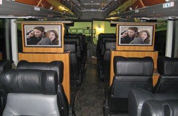 Two TV Screens in Custom Coach