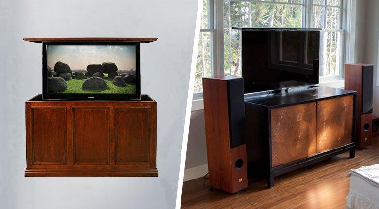 Custom vs DIY TV Lift Cabinet