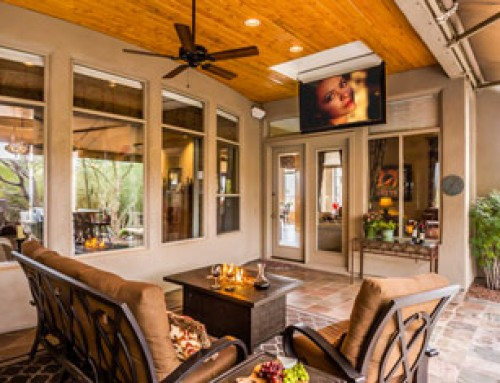 Flip Down TV Lift Adds Perfect Touch to Backyard Patio