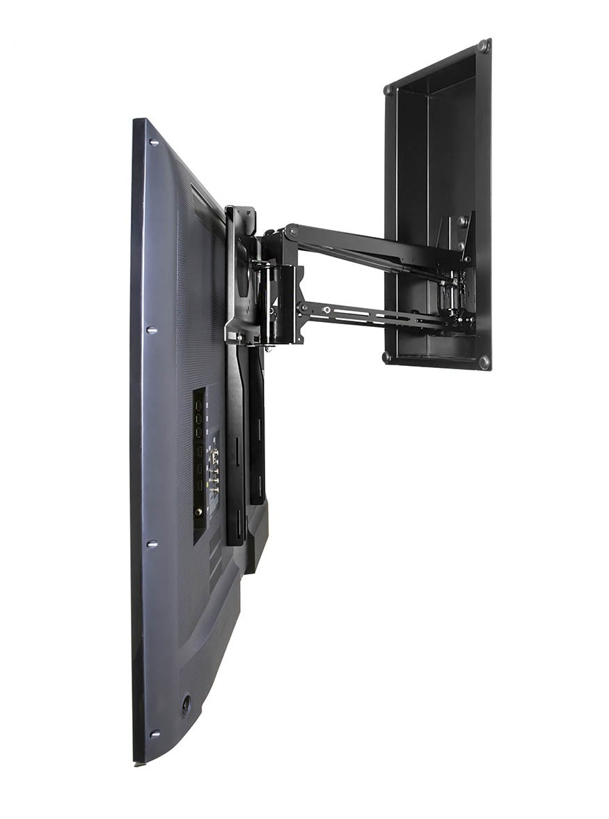 O InWall Pull Down TV Mount With Swivel U2013 Up To 75u201d