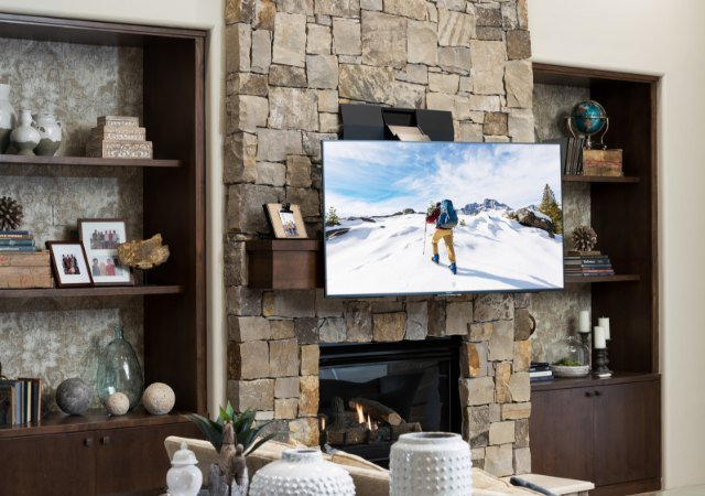 NEW: Transcend Pro Surface Motorized Over-Mantel Mount