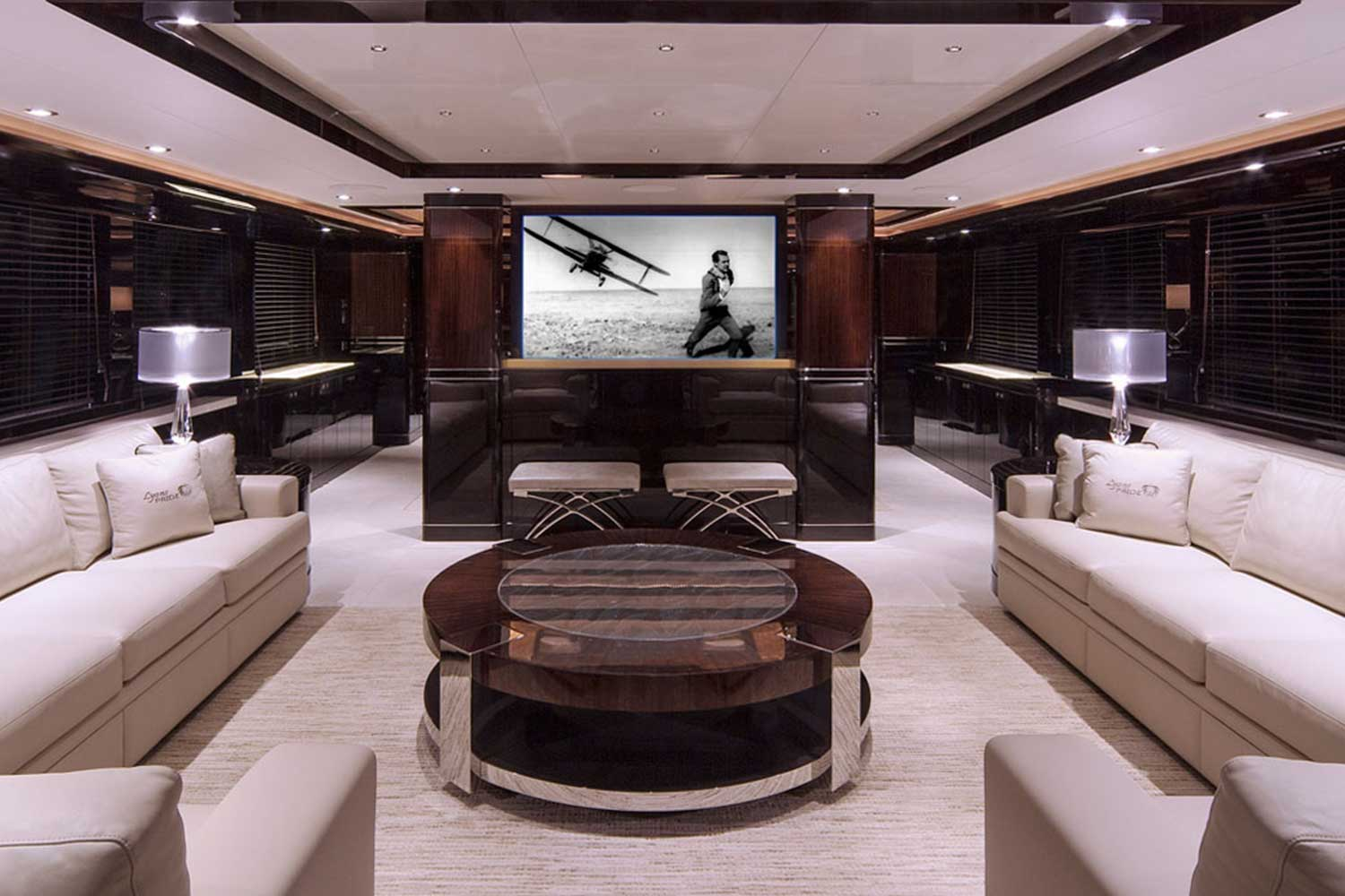 Pop-up Television on Yacht