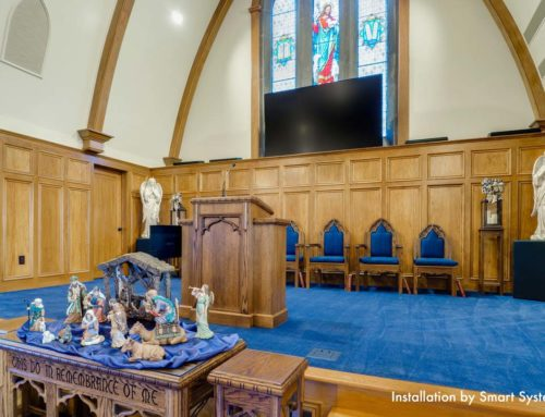 Pop-Up TV Makes Viewing Easy for House of Worship