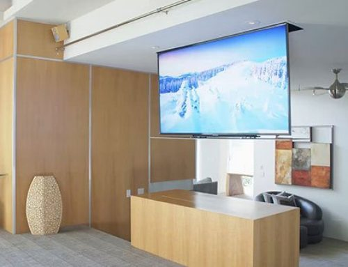 Concealment at the Touch of a Button with Drop-Down TV Lifts